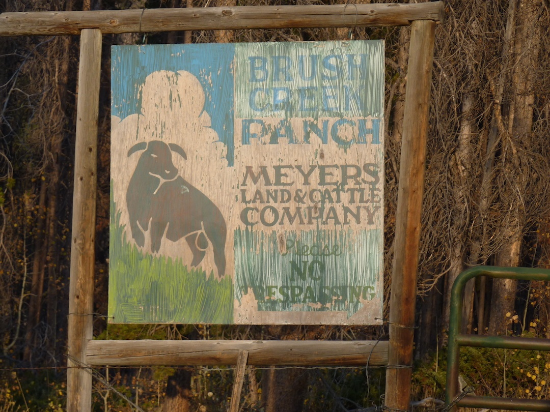 Old Brush Creek Ranch Sign